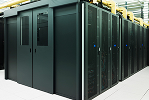 Servers within a colocation data centre